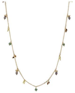 Tangerine golden double bracelet with stones GAS BIJOUX