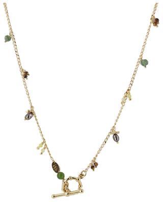 Doppeltes goldenes Armband mit Steinen Tangerine GAS BIJOUX