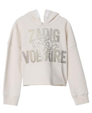 Kapuzensweatshirt mit Kristallen Leopard ZADIG & VOLTAIRE