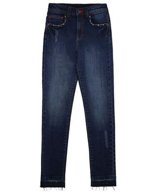 Gebleichte bestickte Slim-Fit-Jeans Megan ZADIG & VOLTAIRE