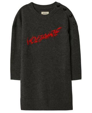 Strickkleid aus Wolle und Kaschmir mit Jacquard-Logo ZADIG & VOLTAIRE
