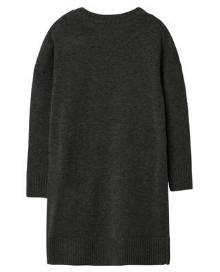 Robe pull en laine et cachemire logo jacquard ZADIG & VOLTAIRE