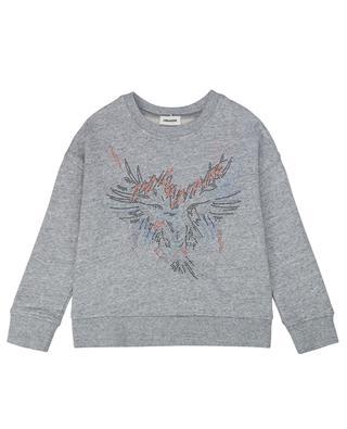 Rundhals-Sweatshirt mit Kristallen Eagle ZADIG & VOLTAIRE