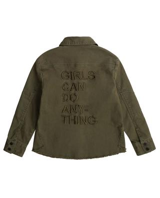 Distressed overshirt in chunky twill with Lurex detail ZADIG & VOLTAIRE