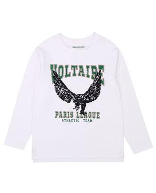 Langarm-T-Shirt mit Adlerprint Paris League Boxo ZADIG & VOLTAIRE