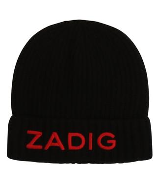 Logo embroidered wool and cashmere beanie ZADIG & VOLTAIRE