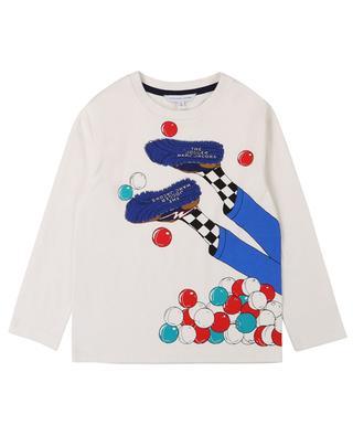 T-shirt à manches longues en jersey imprimé jambes THE MARC JACOBS