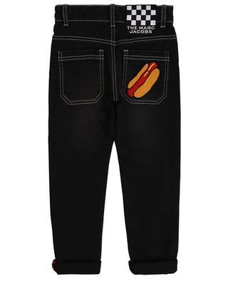 Jean droit brodé hot dog et damier THE MARC JACOBS