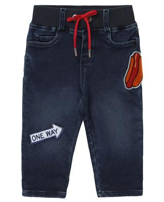 Hot Dog embroidered denim effect trousers THE MARC JACOBS