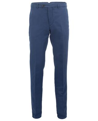 Italian Fit linen and cotton tapered leg trousers BRUNELLO CUCINELLI