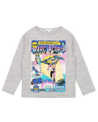 Langarm-T-Shirt mit Glitter-Print Rainbow THE MARC JACOBS
