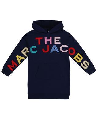Sweatkleid mit Kapuze und bunten Logo-Aufnähern THE MARC JACOBS