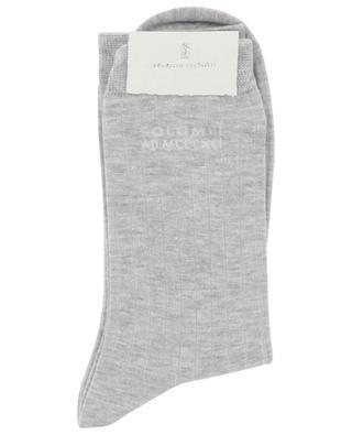 Chaussettes rayées légères détail logo BRUNELLO CUCINELLI
