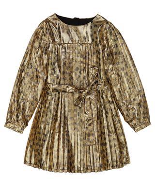Robe plissée en lurex doré imprimée guépard THE MARC JACOBS