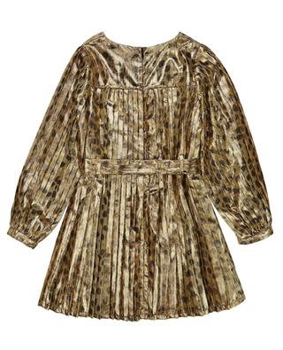 Cheetah printed pleated golden Lurex dress THE MARC JACOBS