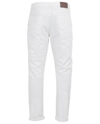 Leisure fit lightweight scuffed white jeans BRUNELLO CUCINELLI
