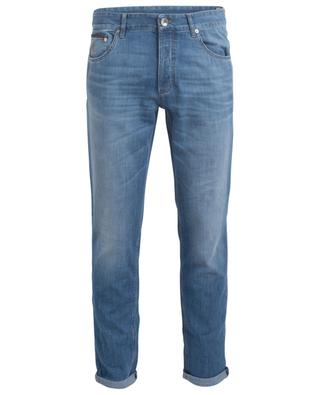 Traditional Fit lightweight used look jeans BRUNELLO CUCINELLI