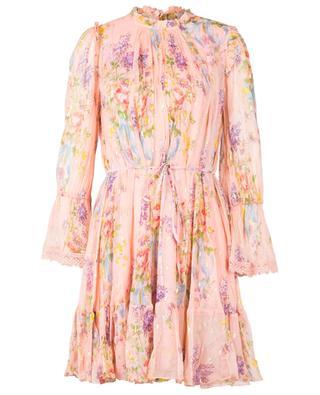 Diamond short viscose dress with belt NEEDLE &THREAD