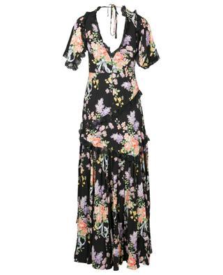 Langes geblümtes Kleid mit V-Ausschnitt Floral Diamond Elsa NEEDLE &THREAD