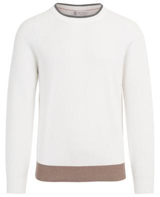 Cotton jumper with raglan sleeves BRUNELLO CUCINELLI