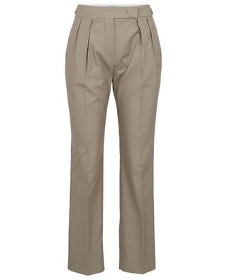 Lucas cotton twill waistband tuck trousers MAX MARA
