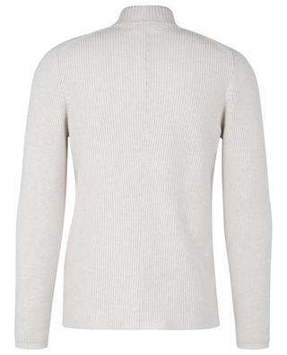 Double-breasted rib knit cotton cardigan BRUNELLO CUCINELLI