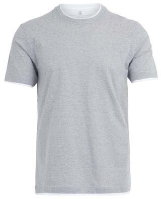 Cotton and linen T-shirt BRUNELLO CUCINELLI