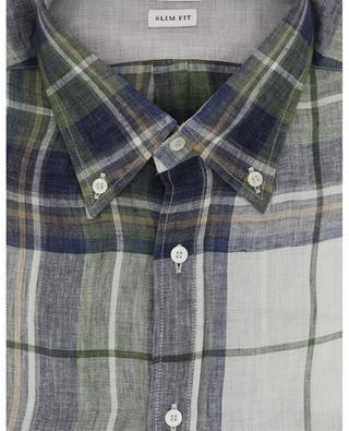 Checked linen shirt BRUNELLO CUCINELLI