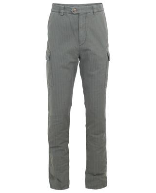 Leisure Fit cotton and linen cargo trousers BRUNELLO CUCINELLI
