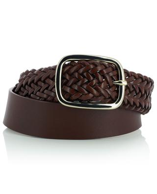 Ermanna leather belt with braided details MAX MARA