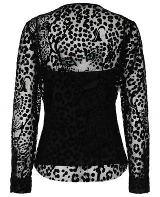 Top à manches longues imprimé léopard floqué RED VALENTINO