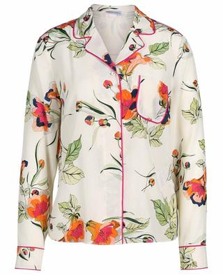 Hemd aus geblümter Seide im Pyjama-Look Fancy Bluebells RED VALENTINO