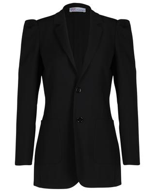 Fitted gabardine blazer with gathered shoulders RED VALENTINO