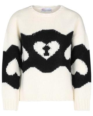 Jacquard-Pullover aus Schurwolle Chains and Padlocks RED VALENTINO