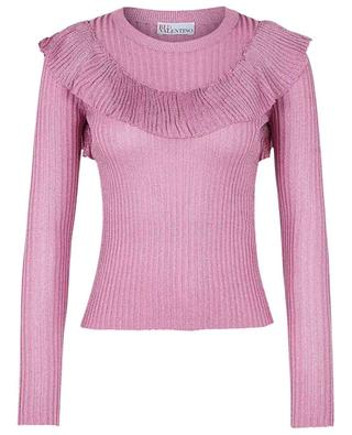 Dünner Viskosemix-Pullover mit Rüschen RED VALENTINO