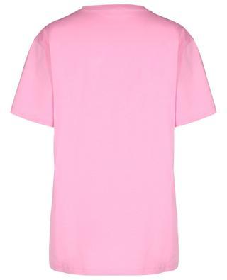 Oversize-T-Shirt mit Glitterprint EXTREMELY PINK RED VALENTINO