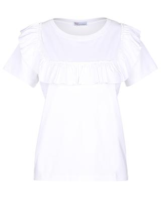 Jersey-T-Shirt with ruffle detail RED VALENTINO