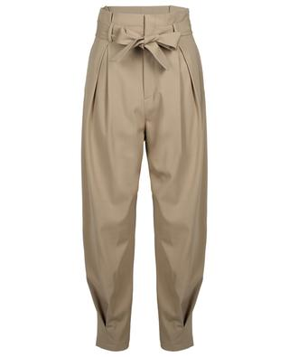 Belted high-rise gabardine carrot trousers RED VALENTINO