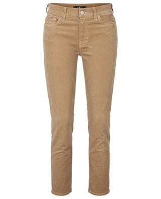 Roxanne Ankle Beige slim fit corduroy trousers 7 FOR ALL MANKIND