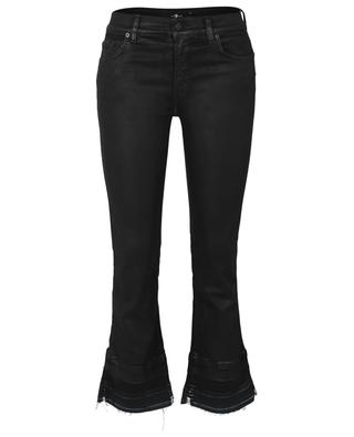Jean évasé enduit Cropped Boot Unrolled Coated Slim Illusion 7 FOR ALL MANKIND