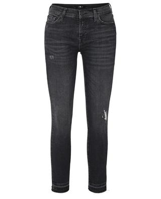Verkürzte Used-Look-Jeans The Skinny Crop Unrolled Slim Illusion Epic Distressed 7 FOR ALL MANKIND