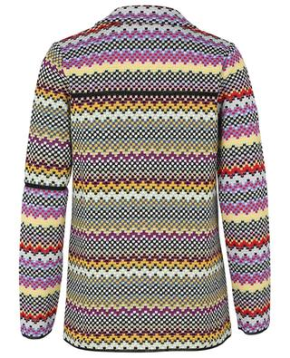 Knit jacket in multicolour chessboard patterns M MISSONI