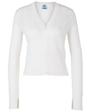 Thin button-down V-neck cardigan in zigzag knit M MISSONI