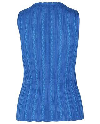 Zigzag knit fine tank top M MISSONI