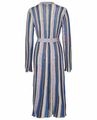 Fine glittering multicolour knit coat M MISSONI