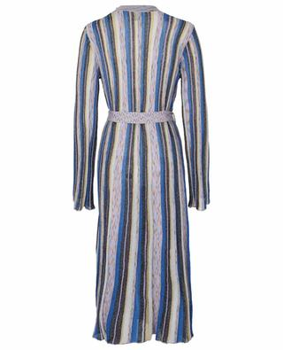 Manteau en maille fine scintillante et multicolore M MISSONI