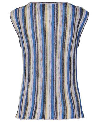 Striped sparkling multicolour knit tank top M MISSONI