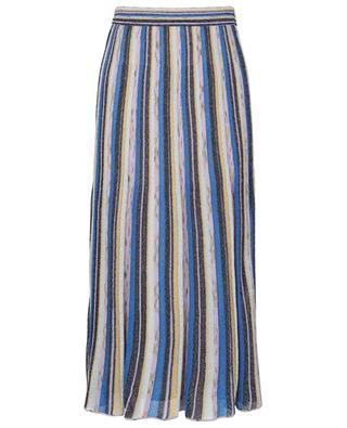 Pleat effect multicolour glittering flared knit skirt M MISSONI