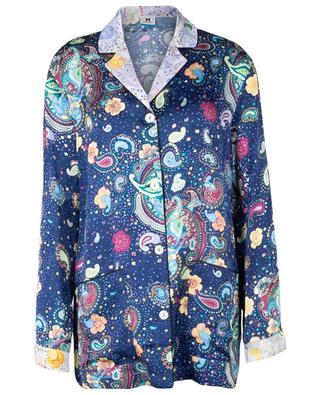 Chemise esprit pyjama en jacquard fleuri imprimé paisley M MISSONI