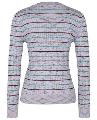 Button-down ribbed V-neck jumper with stripes M MISSONI